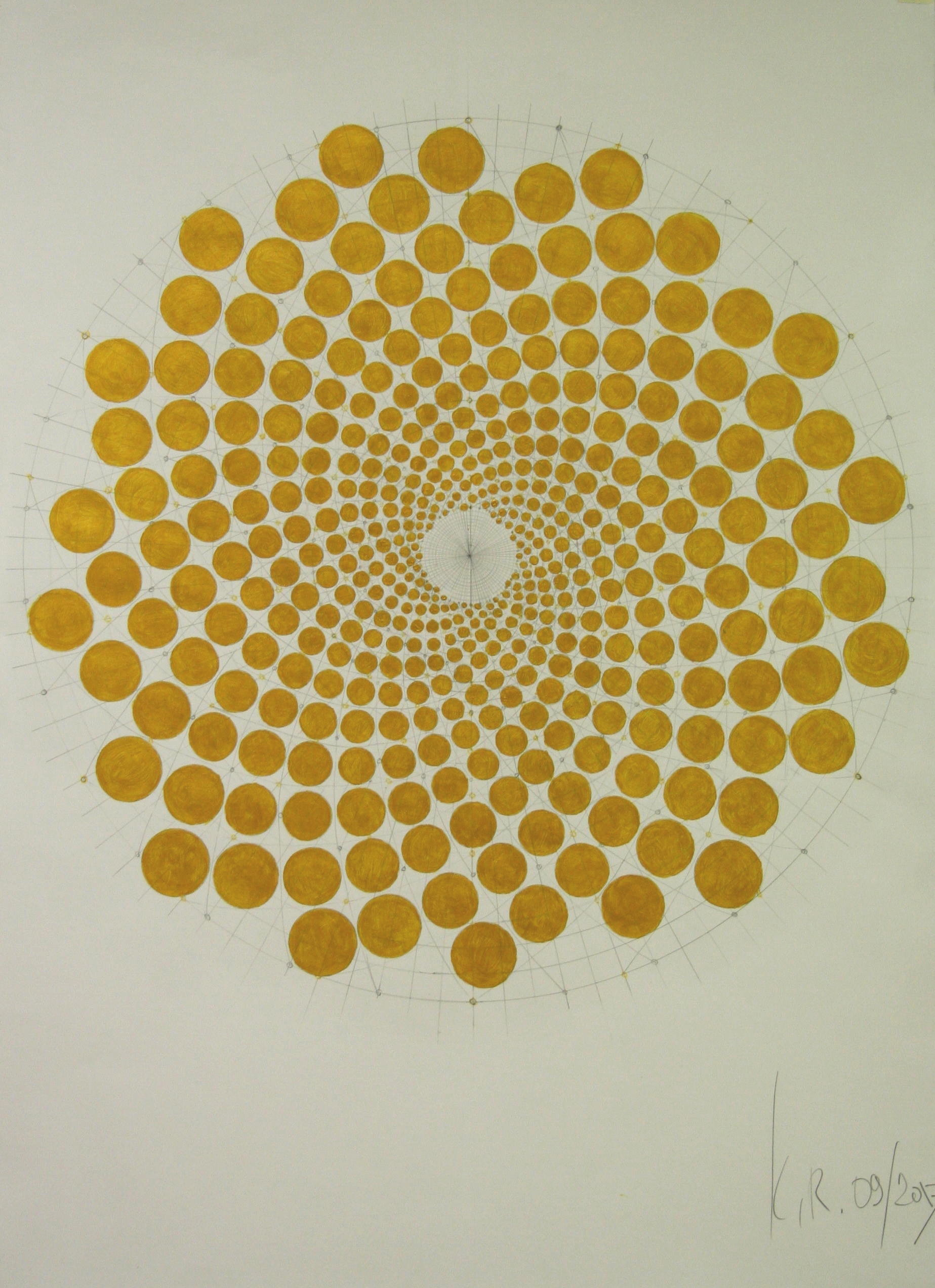 drawing of golden spiral